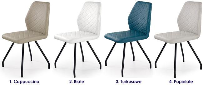 Krzesło tapicerowane w minimalistycznym stylu Adeks