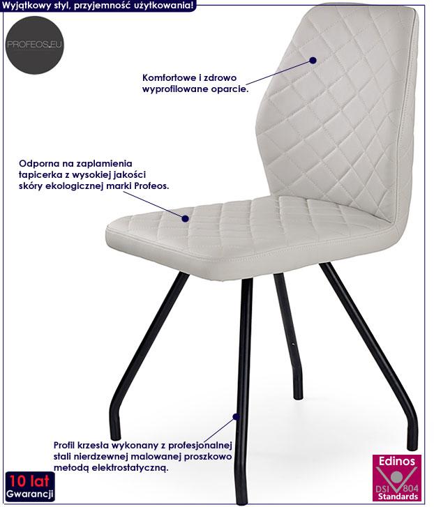 Szare krzesło kuchenne Adeks