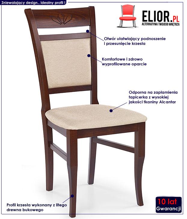 krzesło drewniane Alvin