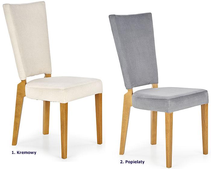 Tapicerowane krzesło do stołu, salonu Amols