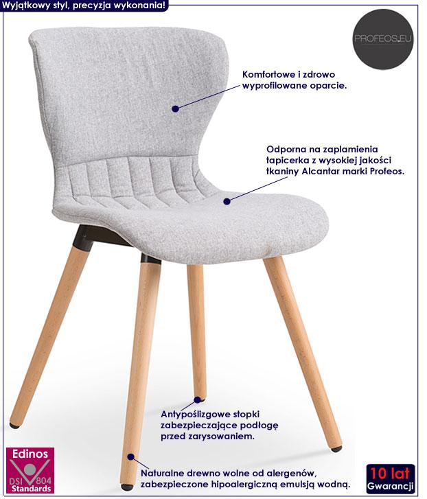 Krzesło skandynawskie szare Anker