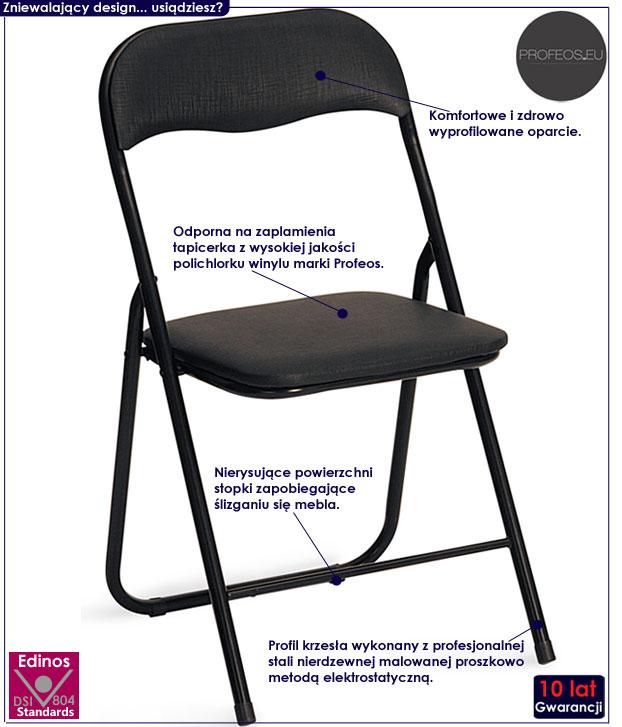 Składane krzesło konferencyjne do biura Arman