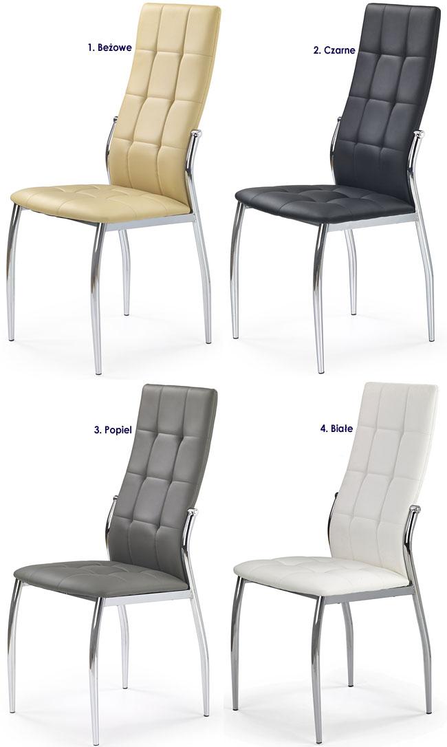 Nowoczesne krzesło pikowane do jadalni, salonu Azrel
