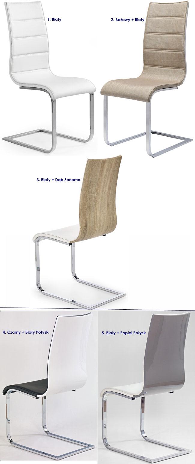 nowoczesne krzesło metalowe, kuchenne Baster
