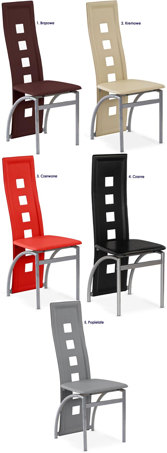 Nowoczesne krzesło do stołu Bilios