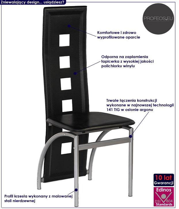 Nowoczesne krzesło do jadalni, salonu Bilios