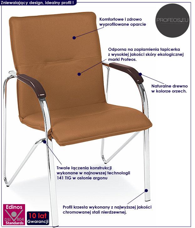 krzesło biurowe brązowe