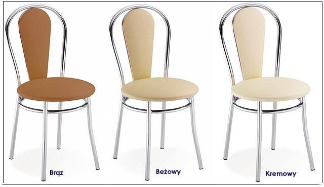 krzesła metalowe tapicerowane