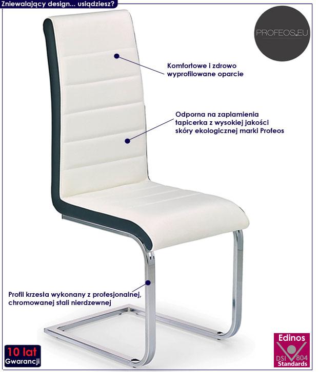 nowoczesne krzesło kuchenne białe Damer