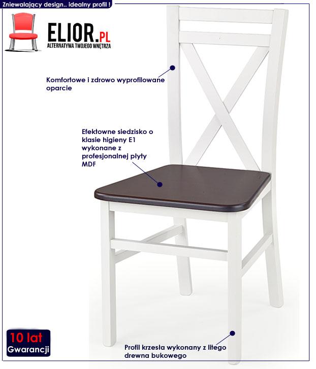 krzesło białe Dario