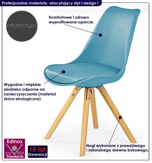 krzesło turkusowe styl skandynawski