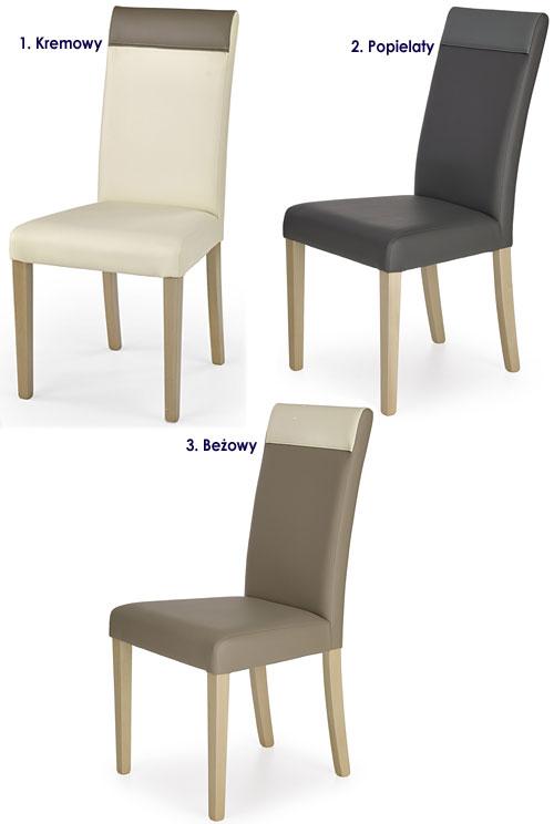 Skandynawskie krzesło drewniane dąb sonoma Devon
