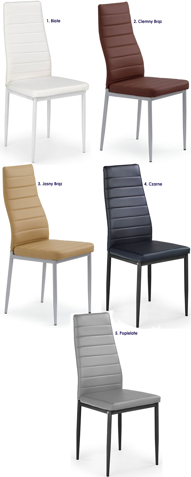 Tapicerowane krzesło do jadalni Dikon