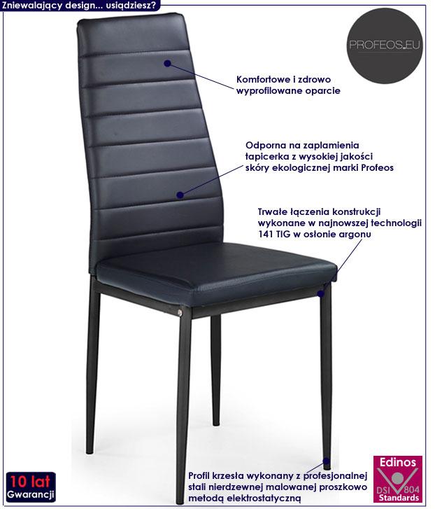 Nowoczesne krzesło kuchenne Dikon