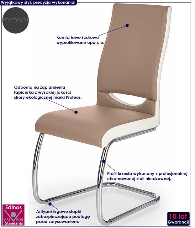 Tapicerowane krzesło kuchenne cappuccino Driven
