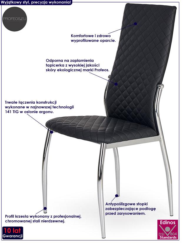 Nowoczesne krzesło pikowane Edson
