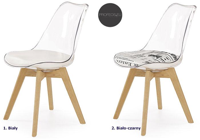 Bezbarwne krzesło kuchenne Edwin