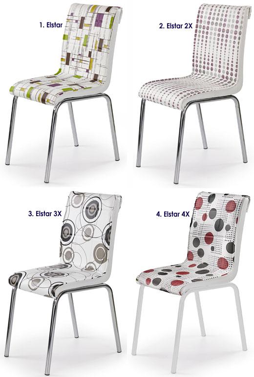 Tapicerowane krzesło do salonu, jadalni Elstar