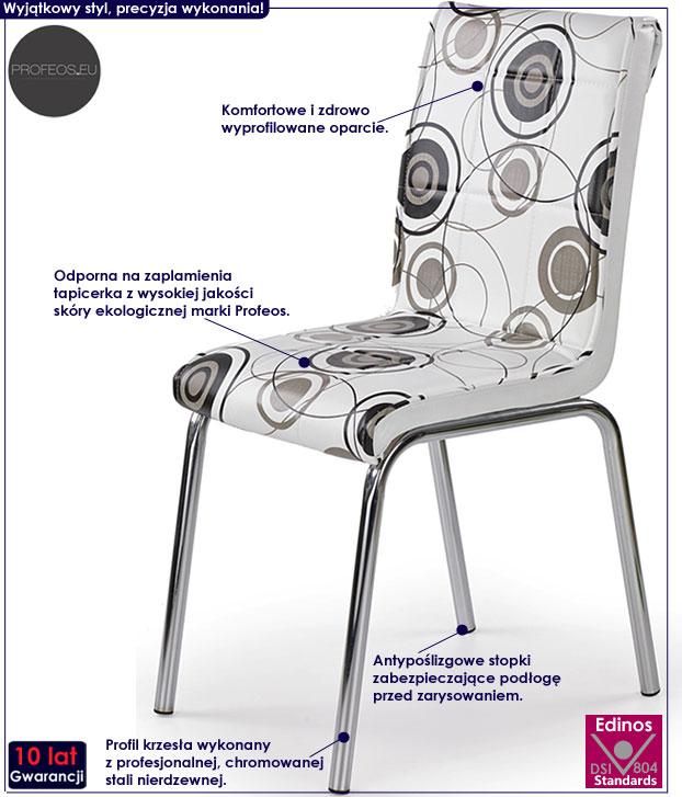 Nowoczesne krzesło kuchenne z printem Elstar