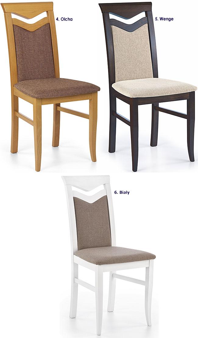 Drewniane krzesło tapicerowane Eric