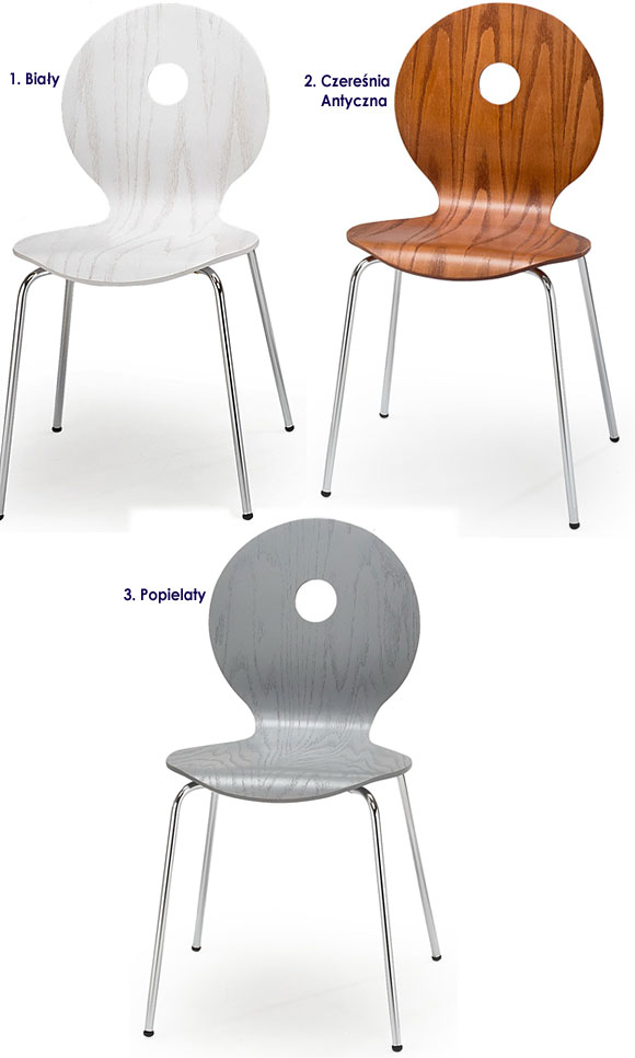 Profilowane krzesło do salonu, jadalni Famis