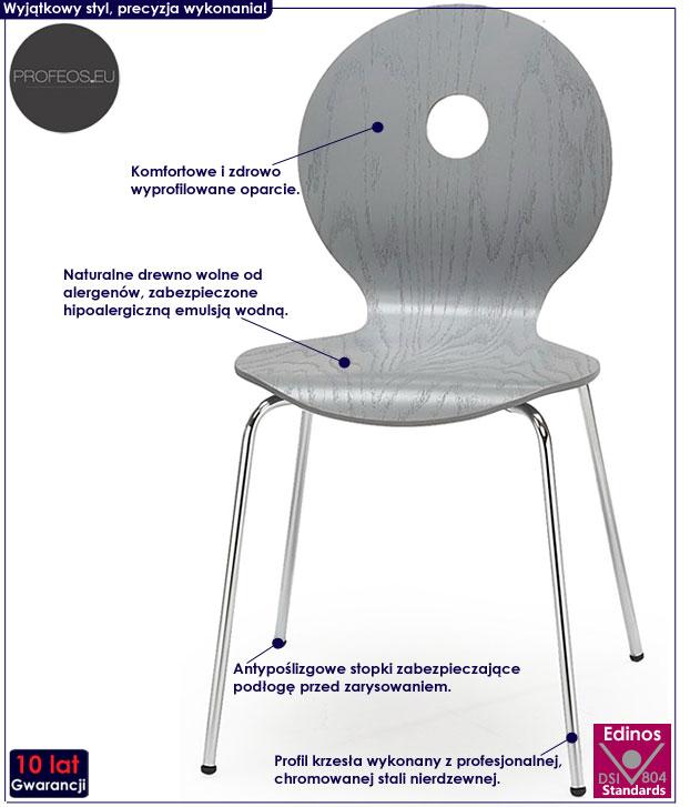 Kuchenne krzesło drewniane do stołu Famis