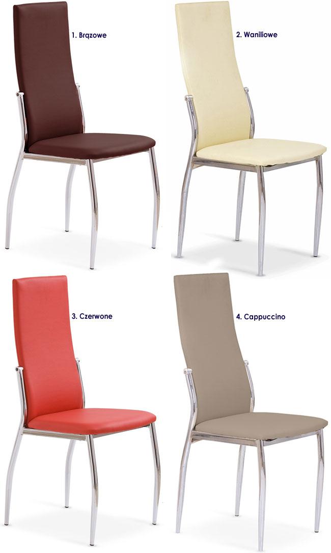 Kuchenne krzesło metalowe, tapicerowane Galder