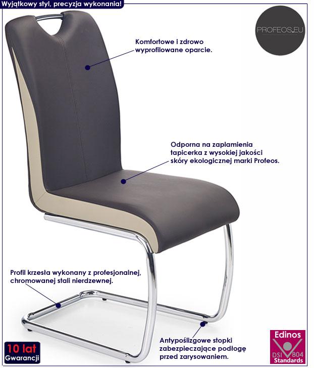 Kuchenne krzesło ciemny brąz Goran