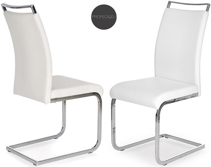 Białe krzesło w minimalistycznym stylu Hader