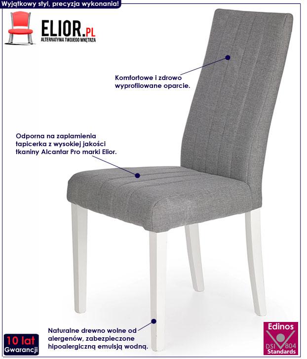 Skandynawskie szare krzesło do stołu Iston