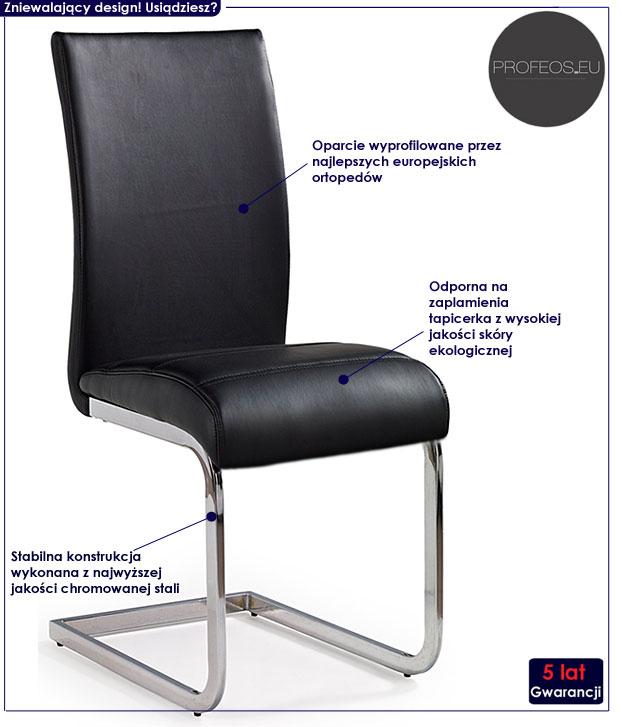 krzesło czarne Johnny