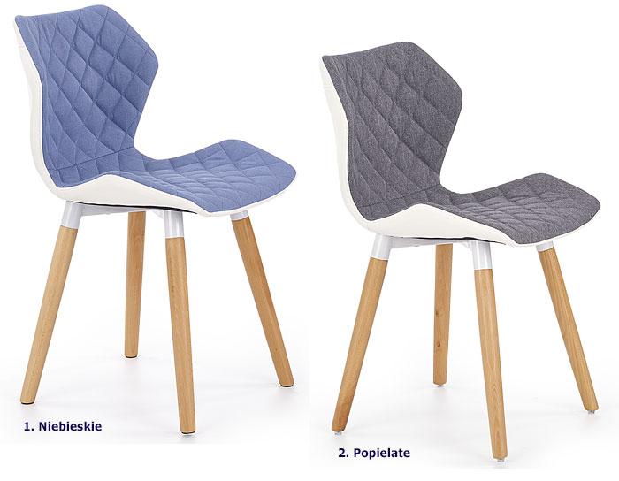 Pastelowe krzesło tapicerowane, kuchenne Kilmer