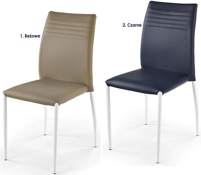 Metalowe krzesło kuchenne do stołu Lenton
