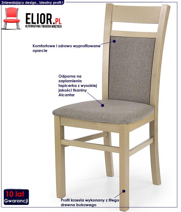 krzesło tapicerowane Lettar