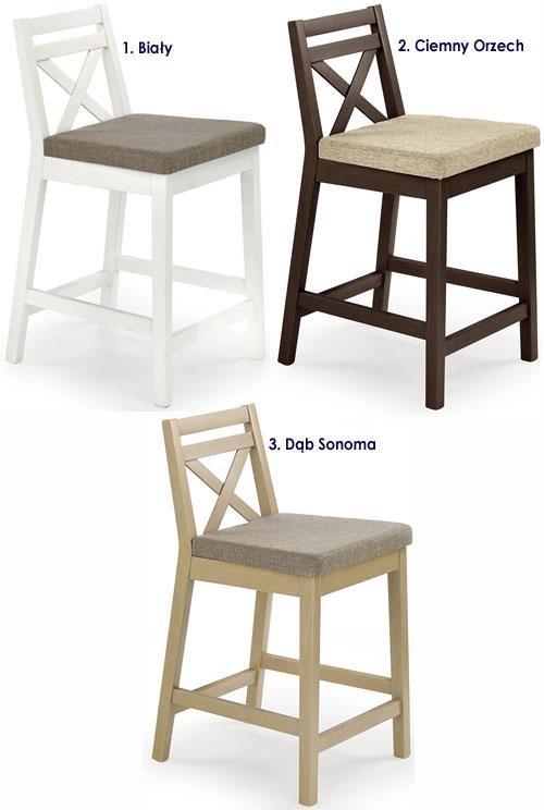 Drewniane krzesło tapicerowane do baru, lady, bufetu Lidan