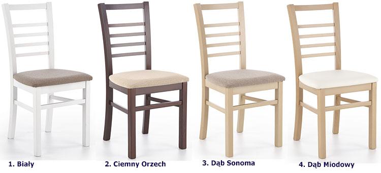Drewniane krzesło tapicerowane Loren