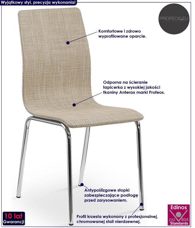 Beżowe krzesło kuchenne Minger