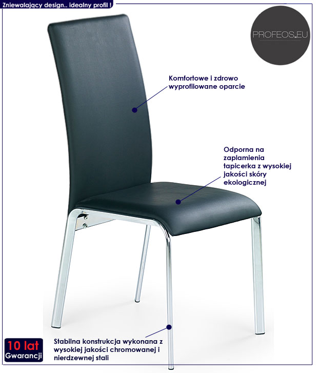 krzesło czarne Mixer