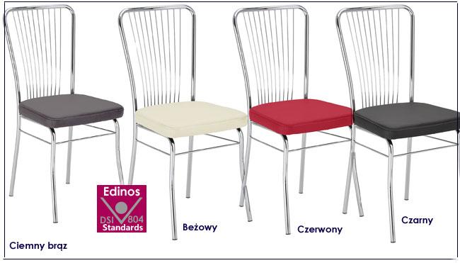 krzesła metalowe tapicerowane neris
