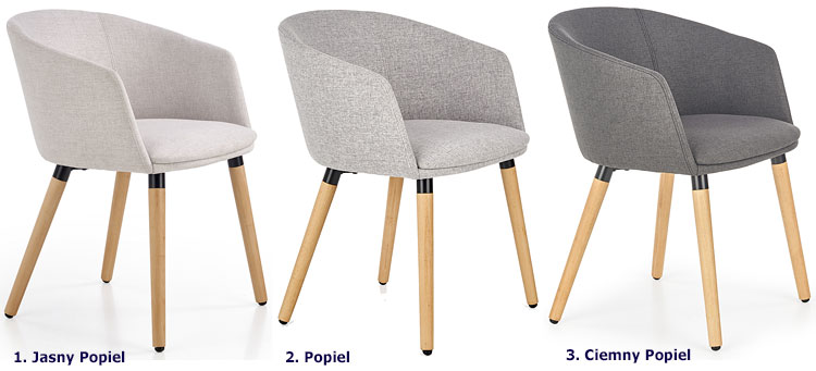 Drewniane szare krzesło kuchenne Nevil