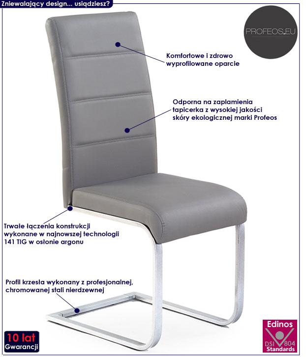 Nowoczesne krzesło tapicerowane Nivor