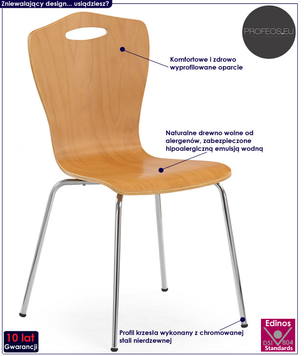 Kuchenne krzesło drewniane olcha Noder