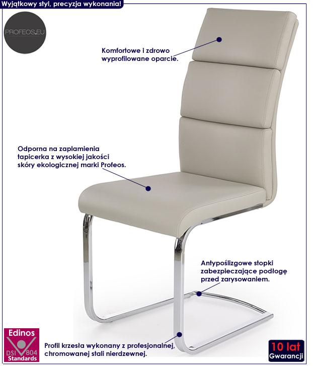 Tapicerowane, minimalistyczne krzesło Olvin
