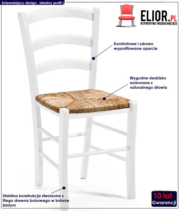 krzesło plecione Peset