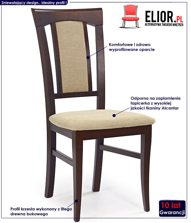 krzesło drewniane Rumer