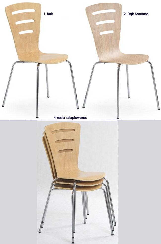 Krzesło kuchenne dąb sonoma Sator