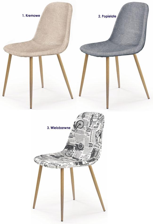 Krzesło w minimalistycznym stylu do stołu Skoner