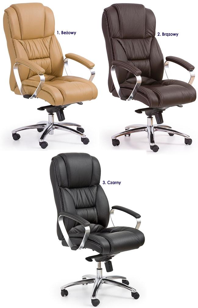 fotel skórzany do biurka komputera gabinetowy Tenar krzesło