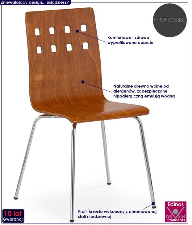 Krzesło kuchenne czereśnia antyczna Tridin