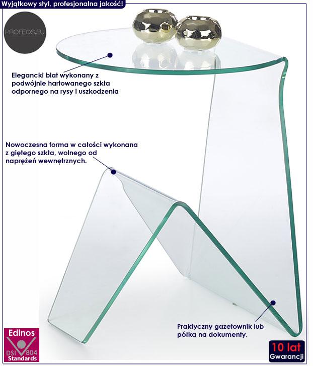 lakierowana ława biały połysk stolik Alfa